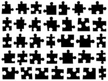Set of different puzzle pieces Royalty Free Stock Photo