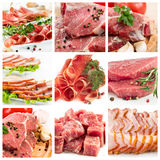 Set of different raw meat Stock Image