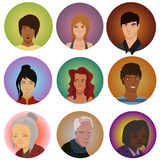Avatars. Set of different real people avatars Stock Photography