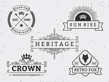 Set of different retro badge design Royalty Free Stock Photography