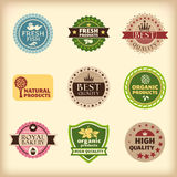 Set of different retro labels Stock Photography