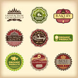 Set of different retro labels Stock Images