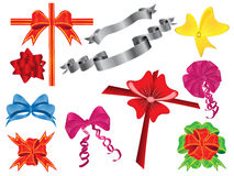 Set of different ribbons. Vector illustration of set of different ribbons Stock Photo