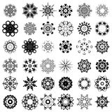 Set of Different Rosettes. Set of Different Tribal Rosettes Tattoo Design Isolated on White Background. Polynesian Design Stock Photos