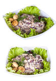 Set with different salads Stock Photography