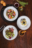 Set of different salads Stock Images