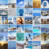 Set of different Santorini photos Stock Photo