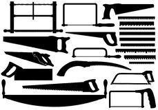 Set of different saws Stock Image