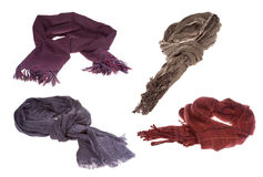 Set with different scarfs Stock Image