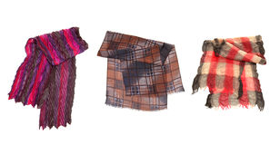 Set of different scarfs Royalty Free Stock Photography
