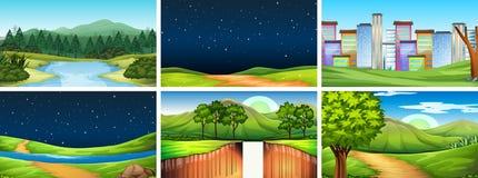 Set of different scenes
