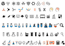 Set of different science icons Stock Images