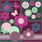 Set with different scrapbook objects Stock Photography