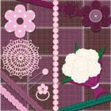 Set with different scrapbook objects Royalty Free Stock Photos