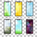 Set of different screens for mobile phones -  flat vector illust. Set of different screens for mobile phones -  an flat vector illustration Royalty Free Stock Images