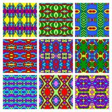 Set of different seamless colored vintage Stock Photos