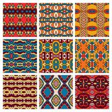 Set of different seamless colored vintage Royalty Free Stock Photos