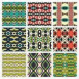 Set of different seamless colored vintage Stock Images