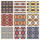 Set of different seamless colored vintage Royalty Free Stock Photo