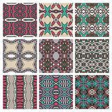 Set of different seamless colored vintage Stock Photography