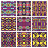 Set of different seamless colored vintage Stock Photo