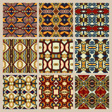 Set of different seamless colored vintage Stock Image