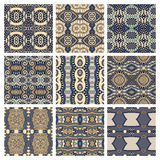 Set of different seamless colored vintage Royalty Free Stock Image