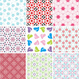 Set of different seamless pattern Stock Image