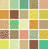 Set of 25 Different Seamless Patterns Royalty Free Stock Photos