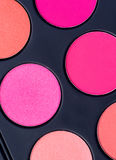 A set of different shades of blush,. A set of different shades of blush Royalty Free Stock Image