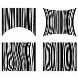 Set of different shaped bar codes Royalty Free Stock Images