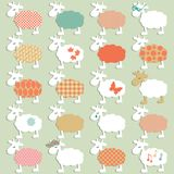 Set of different sheeps Stock Photos