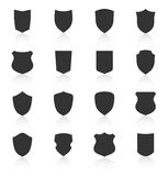 Set of different shield shapes icons Royalty Free Stock Photos