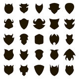 Set of different shield shapes icons. Vector Royalty Free Stock Photos