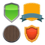 Set of different shields Royalty Free Stock Photo