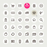Set of shopping icons Stock Photos