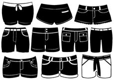 Set Of Different Shorts Stock Photo