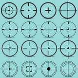 Set of different sights on a turquoise background vector Royalty Free Stock Image