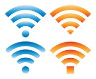 Set of different signs with wifi signal Stock Images