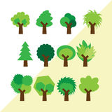 Set of different simple trees. Set of different simple trees for your design Stock Image