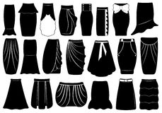 Set of different skirts Stock Images