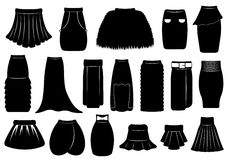 Set of different skirts Royalty Free Stock Photography