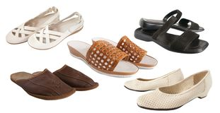 Set of different  slipper Royalty Free Stock Photo