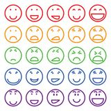Set of different smiles Royalty Free Stock Images