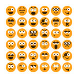 Set of different smiling icons Royalty Free Stock Photo