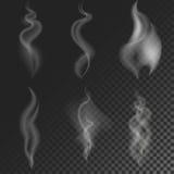 Set of different smoke Stock Photo