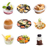 Set of a different snacks for catering service Stock Image