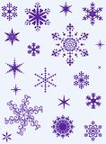 Set of different snowflakes. Set of different vector snowflakes for christmas design Stock Image