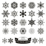 Set of different snowflakes Royalty Free Stock Photos