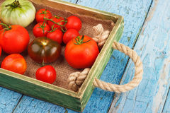 Set of different sorts of tomatoes Stock Photo